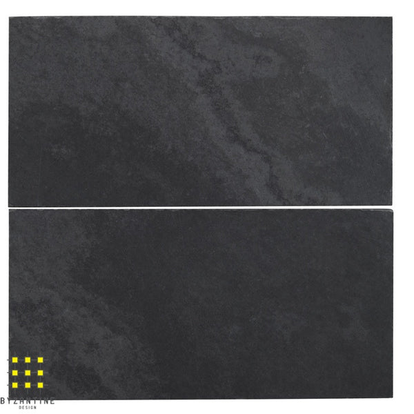 Ardesia black slate honed subway