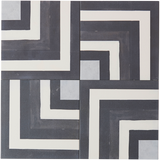 BONNIE AND NEIL COASTAL BLACK GLAZED PORCELAIN TILE