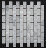 Carrara honed brickbond mosaic