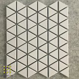 Classic Triangle White Porcelain Mosaic