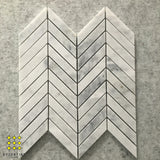 Carrara Chevron 95x325mm Mosaic