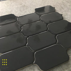 BRAQUETTE CHARCOAL GLAZED MOSAIC