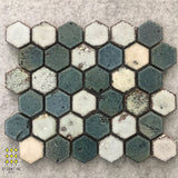 TERRA FIRMA GREEN BLEND HEXAGON MOSAIC