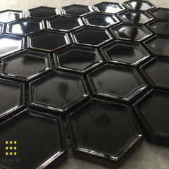 FORMALE NERO HEXAGON MOSAIC