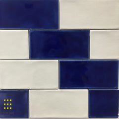 Tavella Cobalt Crackle Gloss Subway tiles