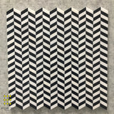 CHEVRON - NERO MARQUINA AND THASSOS MOSAIC