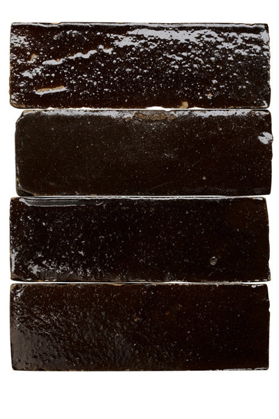 Moroccan chocolate glazed terracotta tile