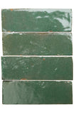 Moroccan sea green glazed terracotta tile