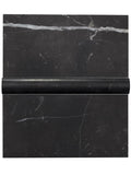 Nero Marquina honed subway tile