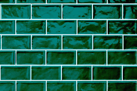 Byzantine Design Tavella Verde Crackle Gloss Subway Tile