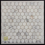 Calacatta Gold Hexagon mosaics 25x25