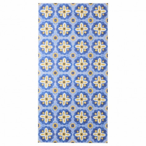 BONNIE AND NEIL AEGEAN BLUE VINYL RUG