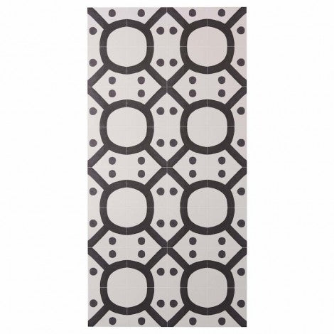 BONNIE AND NEIL SEVENTIES BLACK VINYL RUG