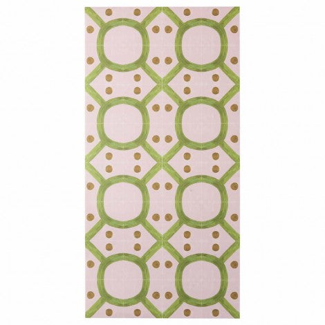 BONNIE AND NEIL SEVENTIES PINK GREEN VINYL RUG