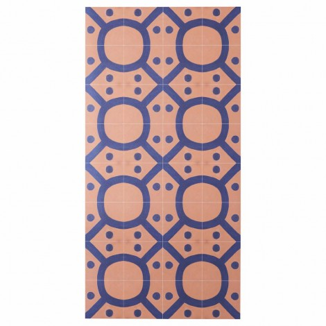 BONNIE AND NEIL SEVENTIES TERRACOTTA NAVY VINYL RUG