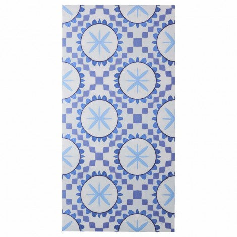 BONNIE AND NEIL CUBAN BLUE VINYL RUG