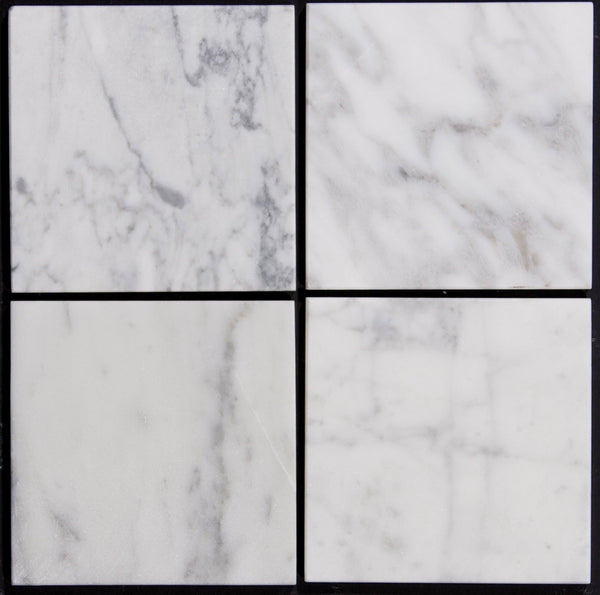 Carrara honed tile