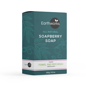 Soapberry Bar Soap - Fennel & Patchouli (4384254787648)