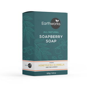 Soapberry Bar Soap - Honeysuckle & Vanilla (3541059993664)