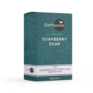Soapberry Bar Soap - Lavender & Butterfly Pea (4384476659776)