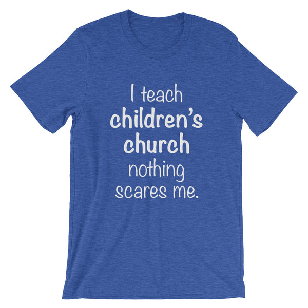 Children's Church Teacher Short-Sleeve Unisex T-Shirt (Blue)