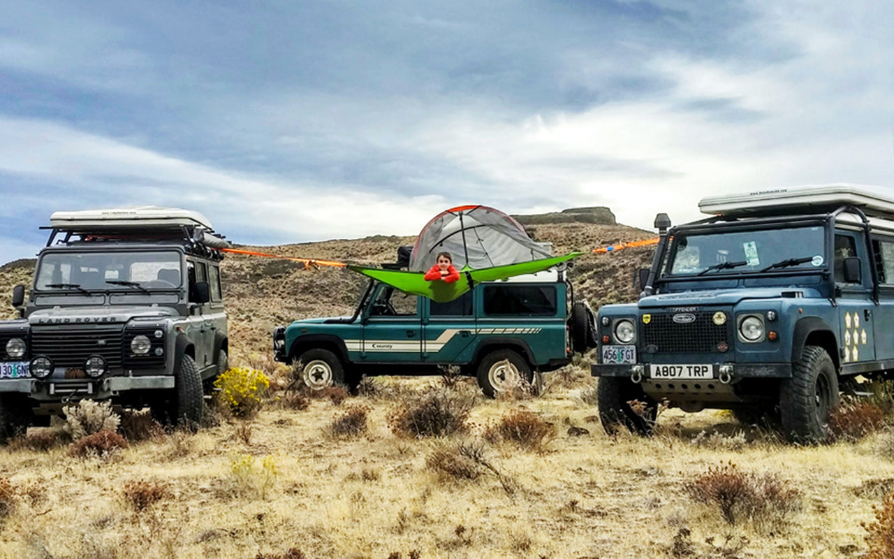 #TentsileAdventure: 3 Land Rovers, 2 barn, 1 Awesome Tentsile Set-Up