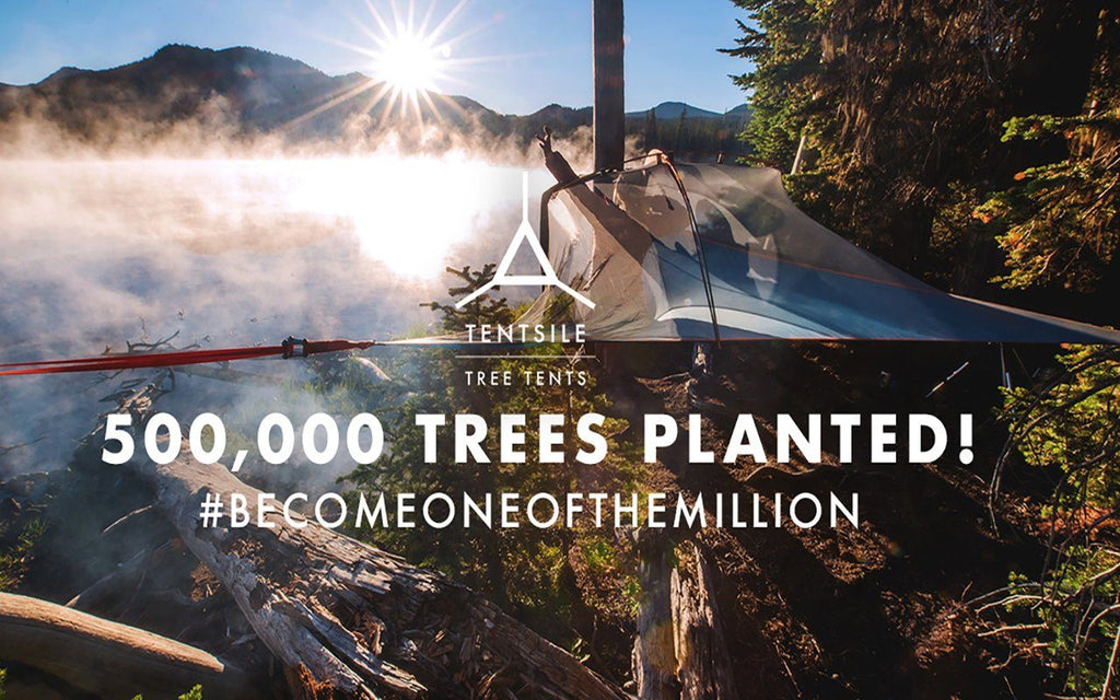 #BecomeOneOfTheMillion Tentsile Plants Half a Million Trees
