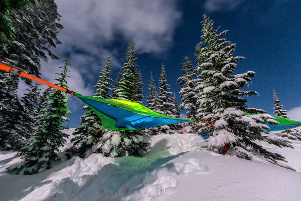 tentsile hammock in snow