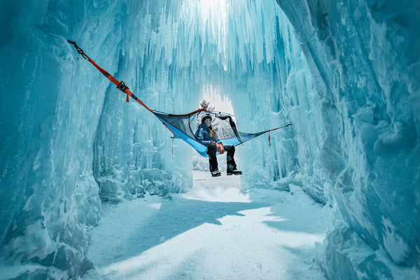 hammock in ice cave