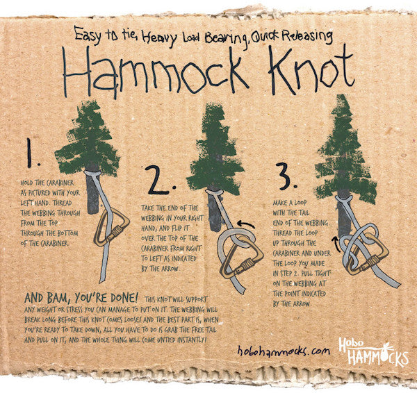 Hammock Knot with Carabiner