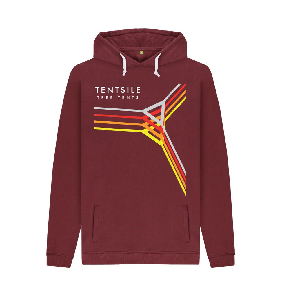 Red Wine Tentsile Retro Hoodie Male