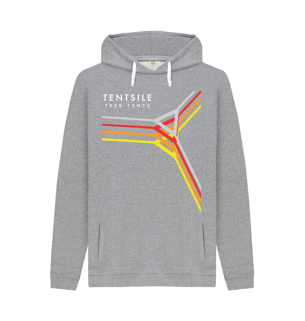 Light Heather Tentsile Retro Hoodie Male