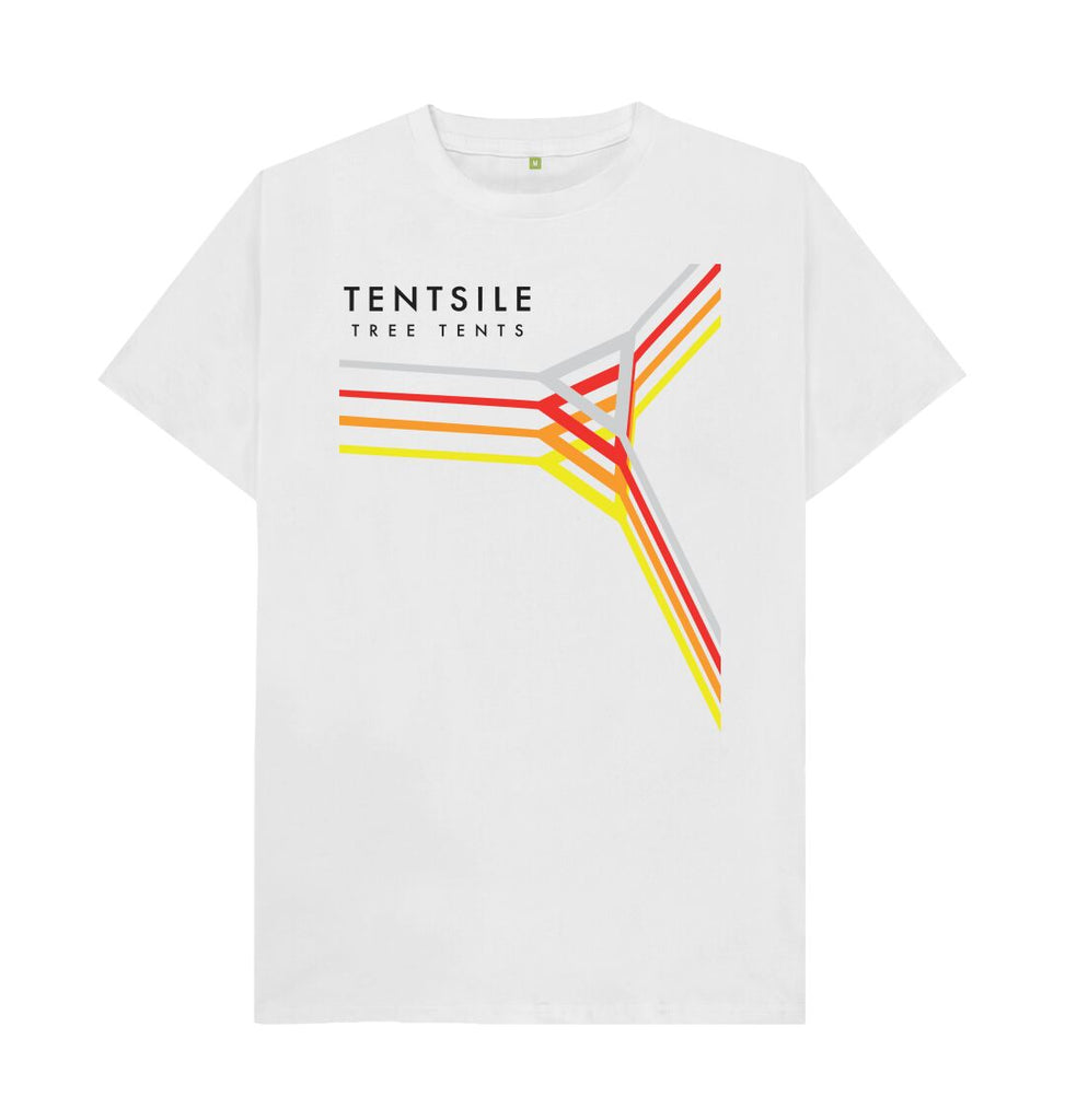 White Tentsile  Retro T Shirt White Male