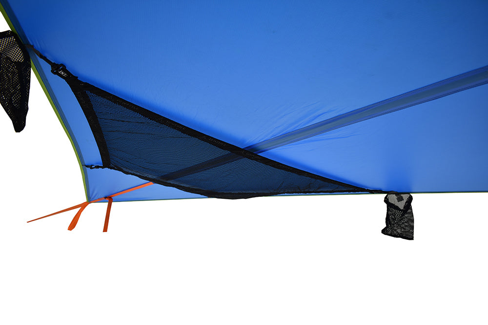 Underfloor Storage on T-Mini 2-Person Double Hammock (Blue Fabric)