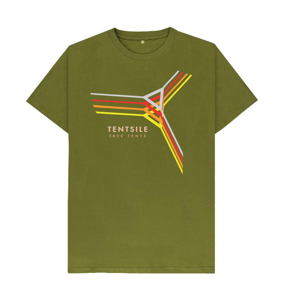 Moss Green Tentsile Retro T Shirt Male