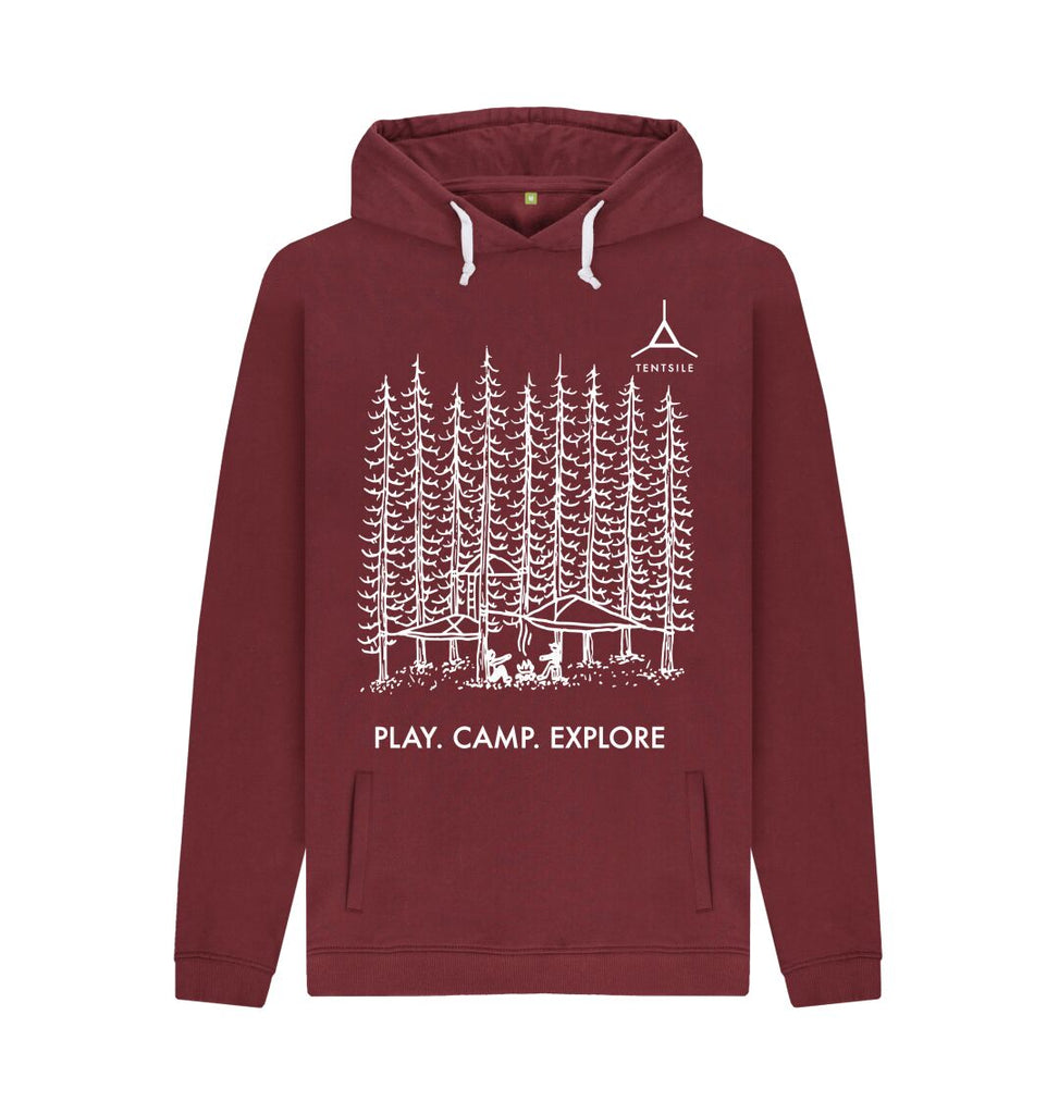 Red Wine Tentsile Trees Hoodie Male