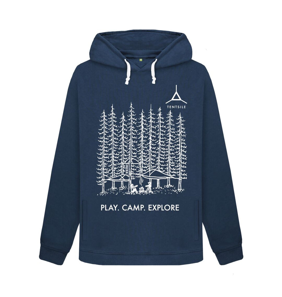Navy Blue Tentsile Trees Hoodie Female