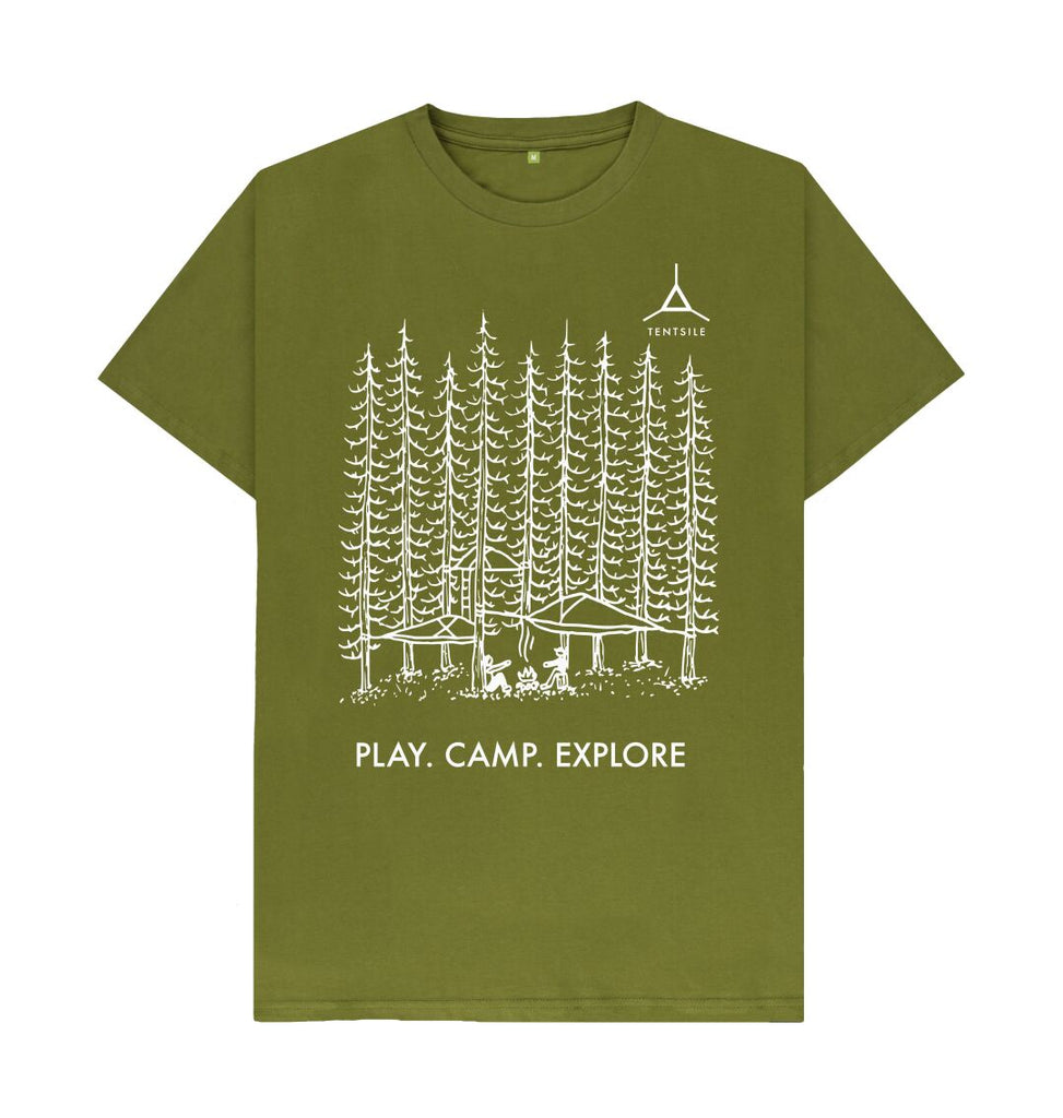 Moss Green Tentsile Tree T Shirt Male