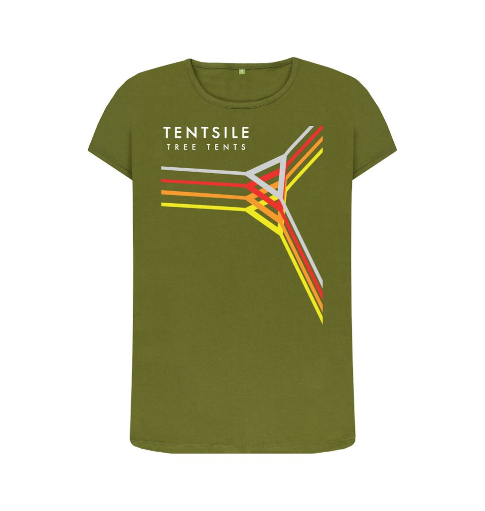 Moss Green Tentsile Retro T Shirt Female
