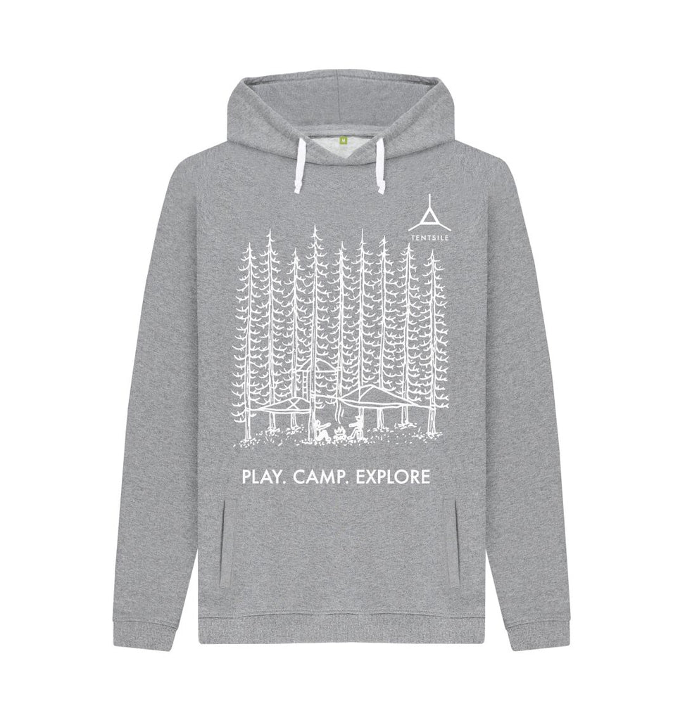 Light Heather Tentsile Trees Hoodie Male