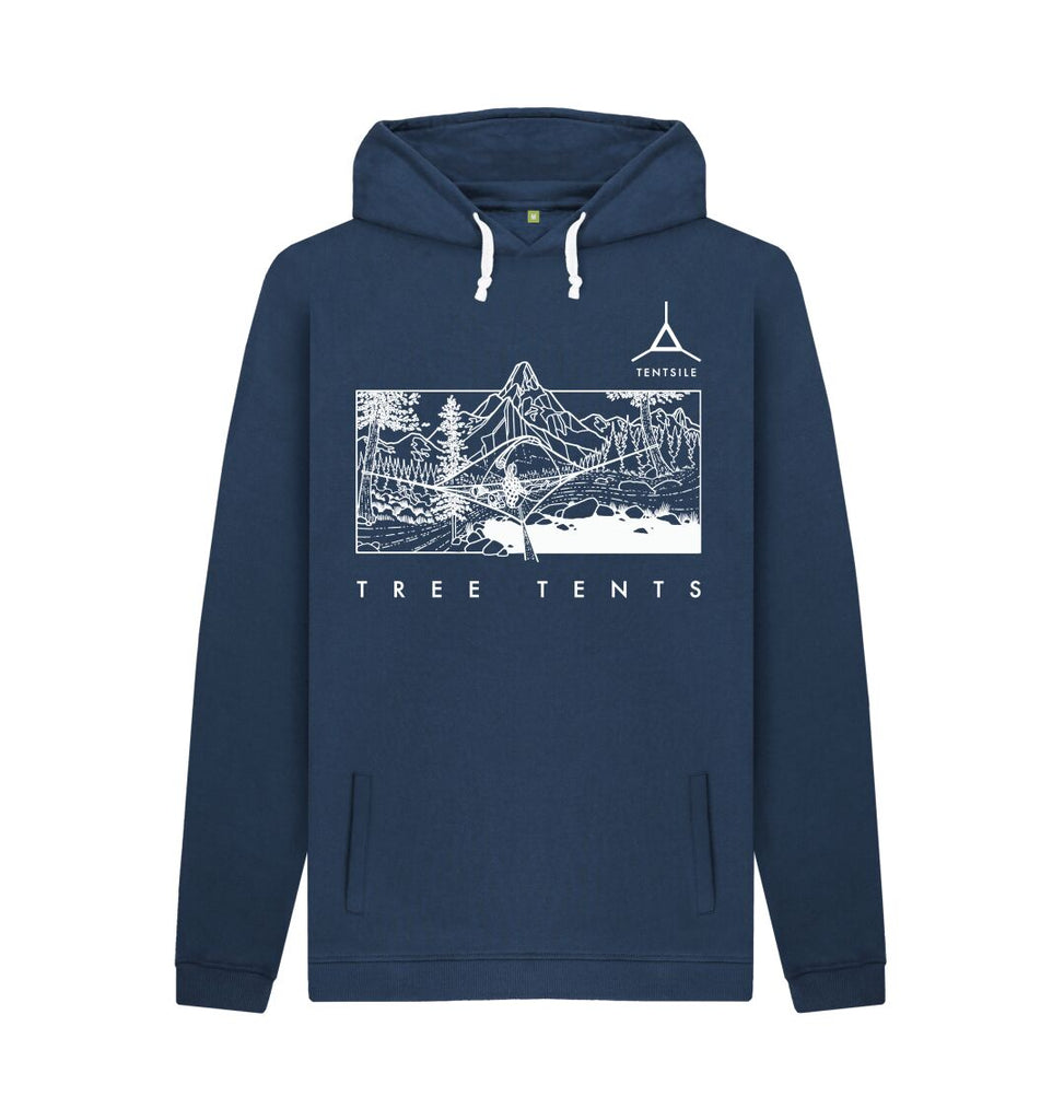 Navy Tentsile Mountain Hoodie Male