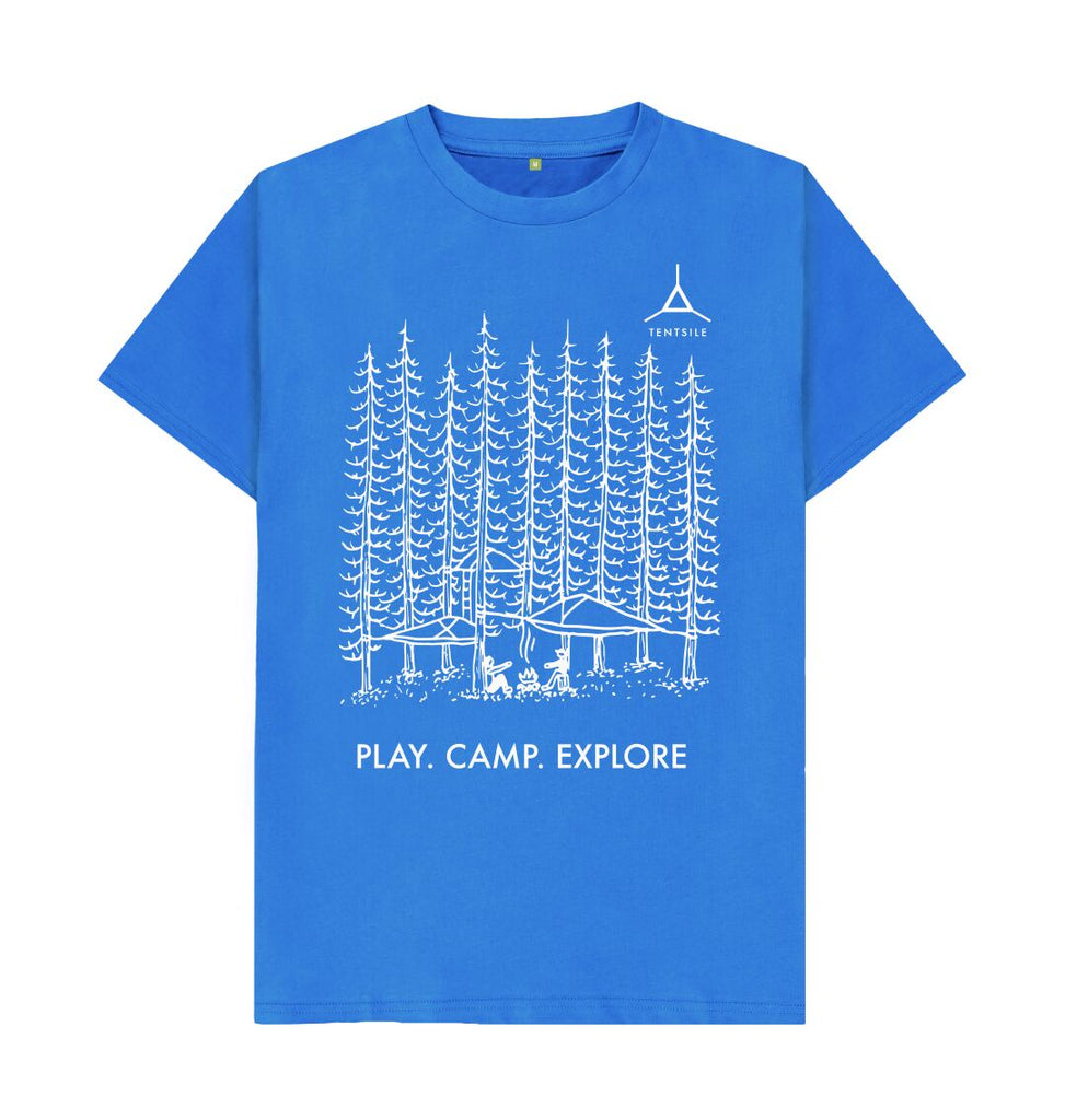 Bright Blue Tentsile Tree T Shirt Male