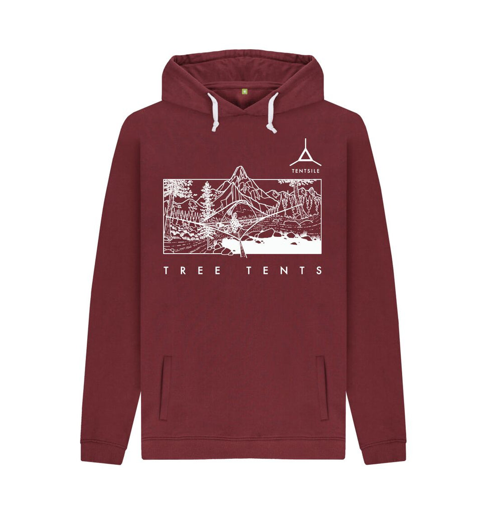 Red Wine Tentsile Mountain Hoodie Male