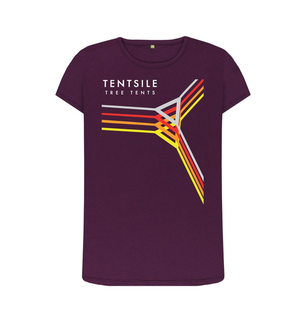 Purple Tentsile Retro T Shirt Female