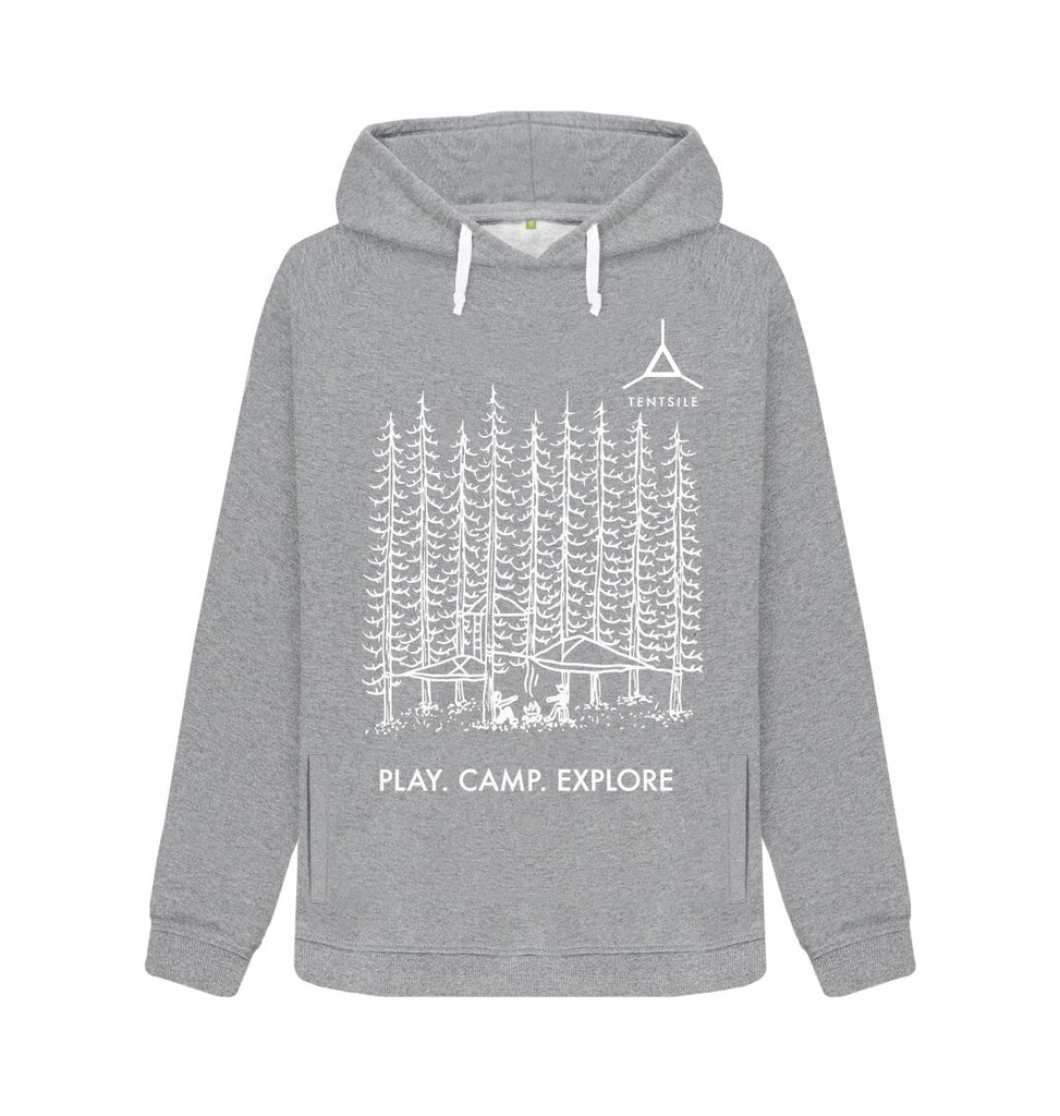 Light Heather Tentsile Trees Hoodie Female