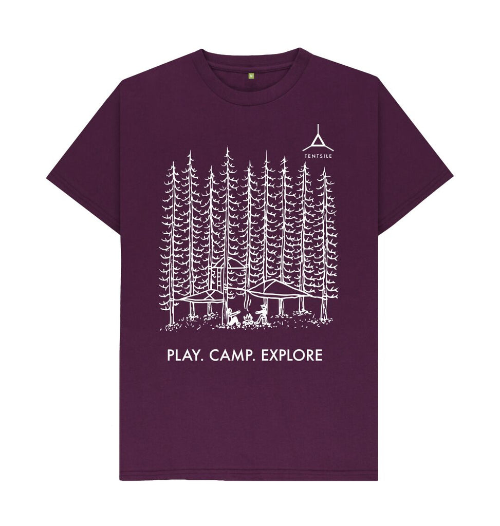 Purple Tentsile Tree T Shirt Male