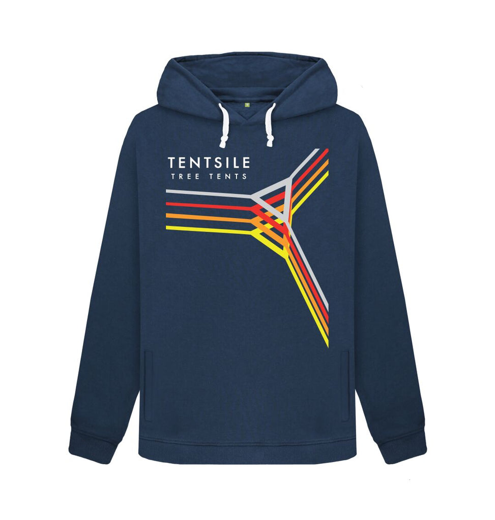 Navy Blue Tentsile Retro Hoodie Female