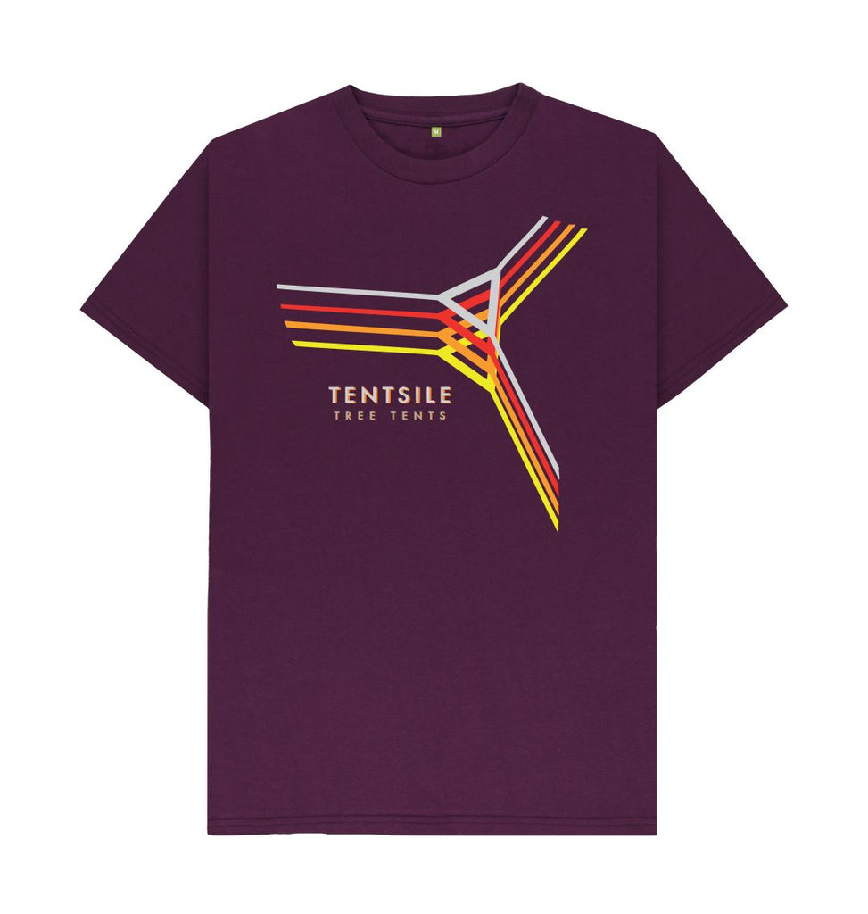 Purple Tentsile Retro T Shirt Male