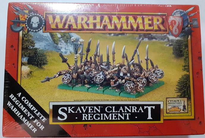 GW Skaven Clanrats Plastic Box Still Sealed OOP