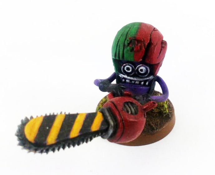 Evil Fantasy Footballer Chainsaw Loony